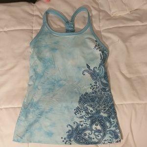 Blue Athleta tank top